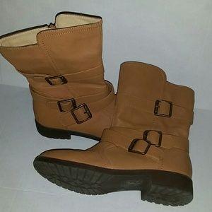 Shoe Dazzle Christi Mid Calf Tan Boots 8.5